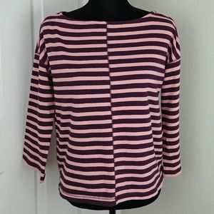 Lou & Grey purple and pink striped top NWT
